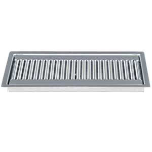 """Micro Matic DP-220D 12"""" Stainless Steel Flush Mount Drip Tray with 3/4"""" NPT Drain"""