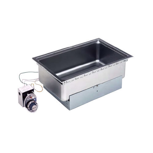 Wells 5P-SS206TD-120 Drop-In Rectangular Hot Food Well with Drain - Top Mount, Thermostatic Control, 120V Main Image 1