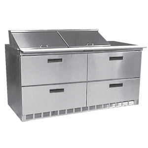 """Delfield UCD4460N-12 60"""" 4 Drawer Reduced Height Refrigerated Sandwich Prep Table"""