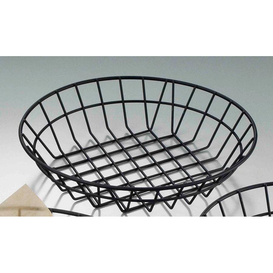 American Metalcraft Wib100 Black Round Wire Basket 10 Jpg