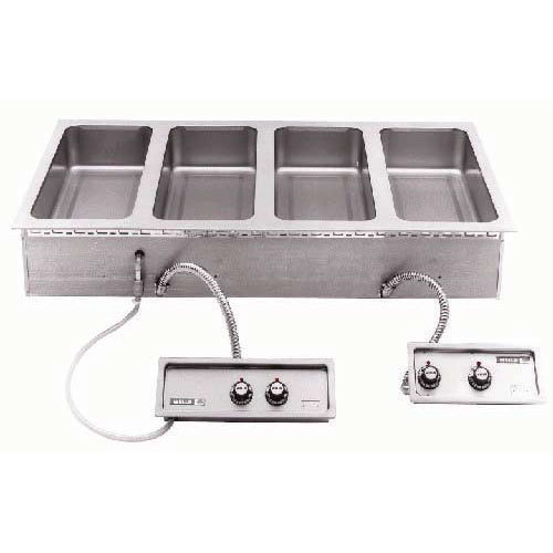 Wells 5P-MOD427TDMAF 4 Well 4/3 Size Drop-In Hot Food Well with Drain Manifolds and Autofill - Dual Thermostatic Control Panels Main Image 1