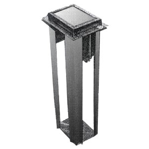 """Delfield ND-47 6 1/4"""" x 9 3/8"""" x 24"""" Stainless Steel In Counter Napkin Dispenser Main Image 1"""