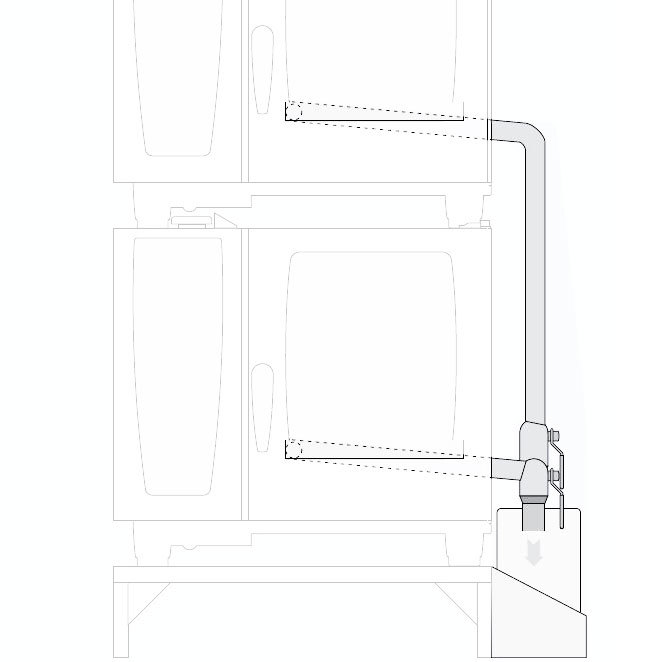 Rational 60.72.668 Integrated Fat Drain Assembly Kit for 62 on 102 Combi Duo Ovens Main Image 1