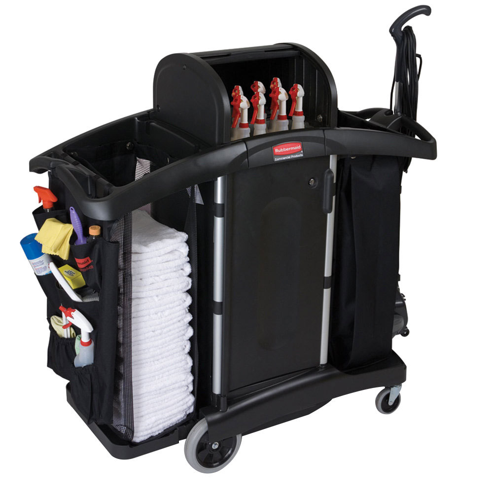 rubbermaid fg9t7800bla executive high security cart main picture image preview