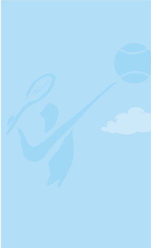 """8 1/2"""" x 14"""" Menu Paper - Country Club Themed Tennis Silhouette Design - 100/Pack Main Image 1"""