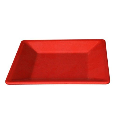 "Thunder Group PS3211RD 10 1/4"" Passion Red Square Plate - 12/Pack"