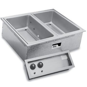 APW Wyott SHFWEZ-2D EZ-Fill 2 Well Insulated Drop In Hot Food Well - 208 / 240V Main Image 1