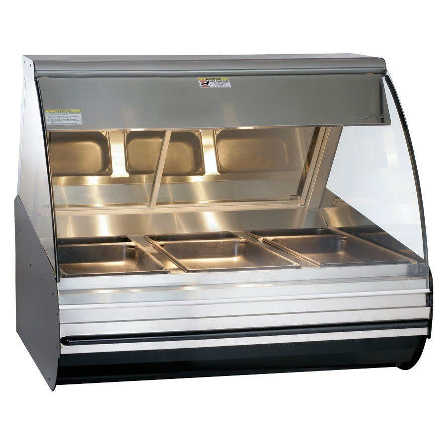 Countertop Display Case : ... 48 Heated Display Case with Curved Glass - Countertop with Legs 48