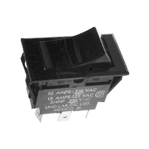 Bunn 03356.1001 On / Off / On Black Rocker Switch for TU3Q Tea Brewers & AFP Autofill Pump Systems Main Image 1