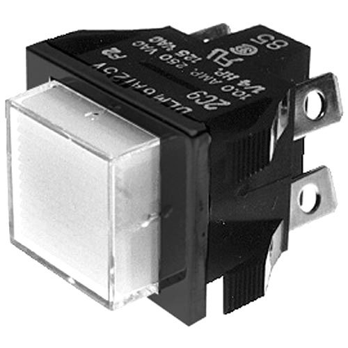 Bunn 28296.0001 Red Momentary Push Button Switch for FMD-2 Hot Beverage Dispensers Main Image 1