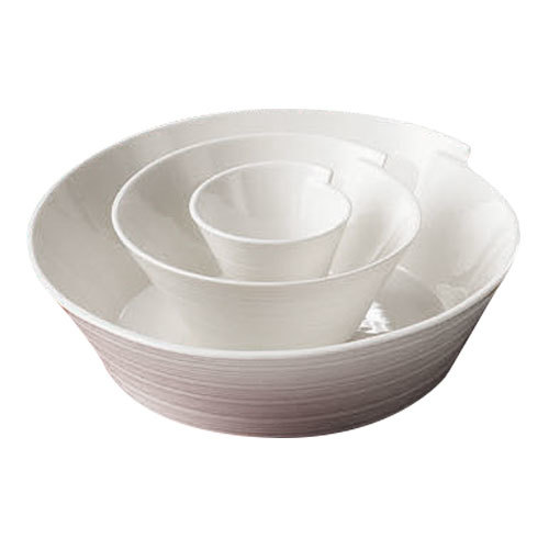 CAC SUS-B6 Sushi Signature 36 oz. New Bone White Porcelain Small Bowl - 36/Case