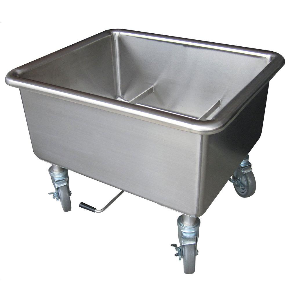 steril sil e1 sk 2 mobile two basket silverware soak sink
