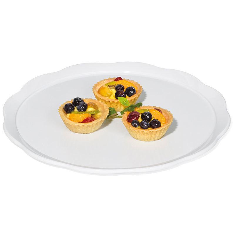 "GET ML-114-W Bake and Brew 11 1/2"" White Round Display Platter - 12/Case"
