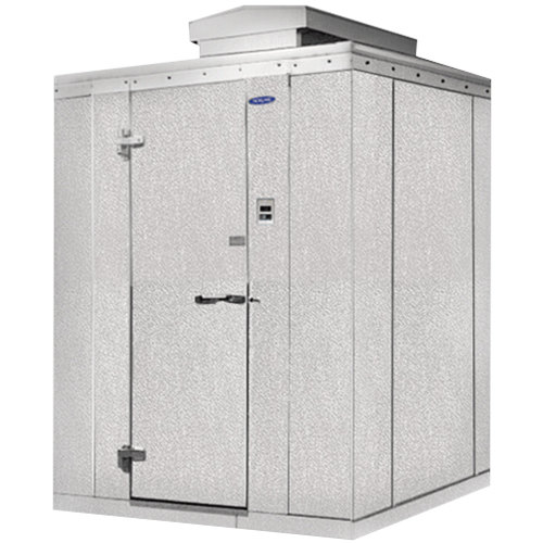 """Lft. Hinged Door Nor-Lake KODF7766-C Kold Locker 6' x 6' x 7' 7"""" Outdoor Walk-In Freezer"""