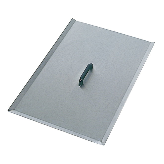 "Frymaster 8239413 20 3/8"" x 28"" Stainless Steel Fryer Cover for MJCF Fryers Main Image 1"