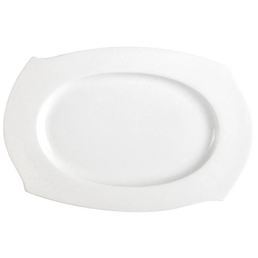 """CAC PHA-13 Philadelphia 12"""" Super White Porcelain Platter - 12/Case"""