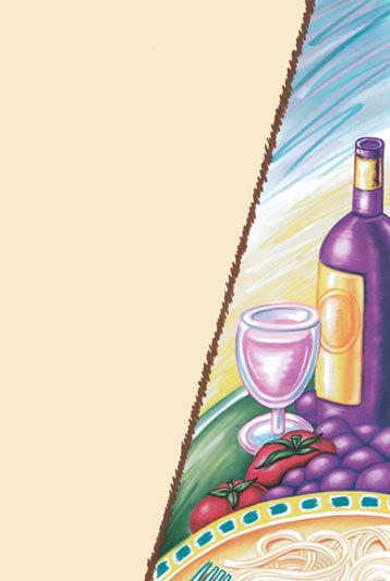 "8 1/2"" x 11"" Menu Paper - Wine Themed Bottle Design Cover - 100/Pack"