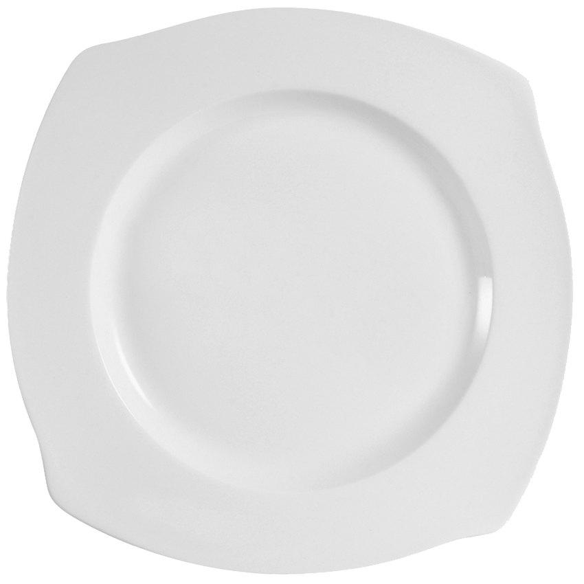 """CAC PHA-9 Philadelphia 9 1/2"""" Super White Porcelain Plate - 24/Case"""