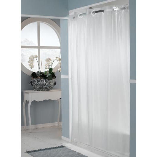 "It's A Snap! RBH14HH12 Frost PEVA One PLANET Shower Curtain Liner with Magnets - 70"" x 54"""