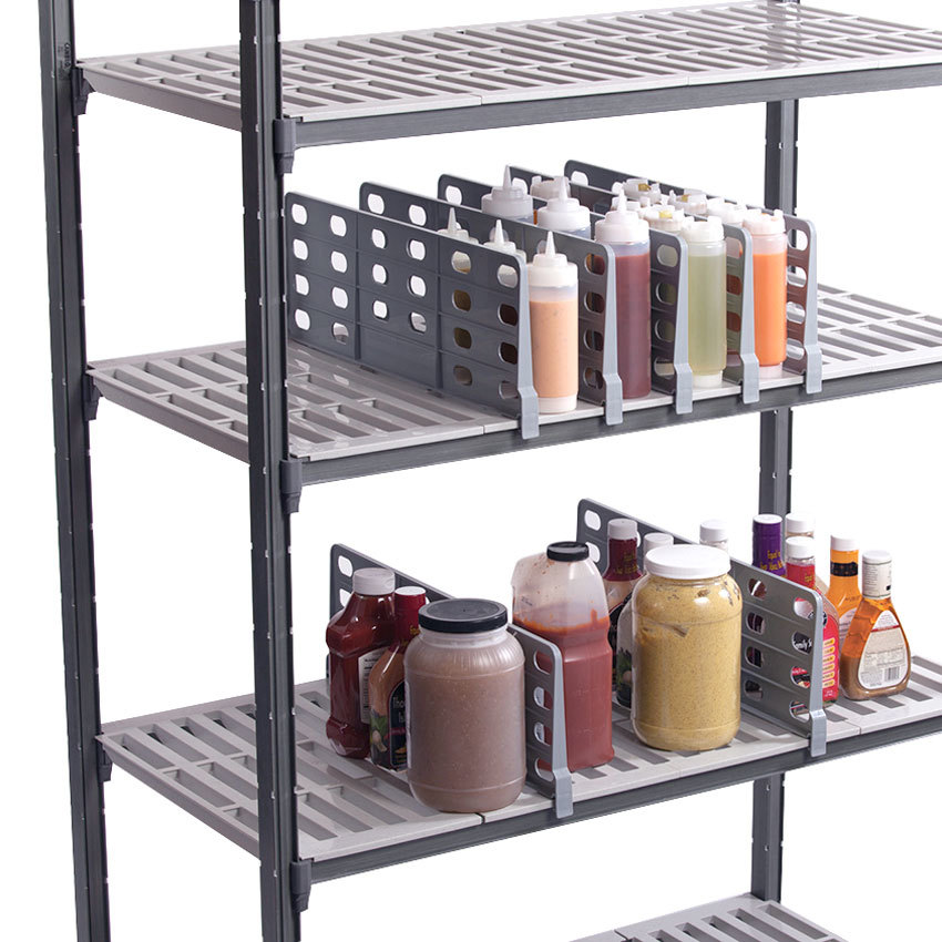 """Cambro CSSD188151 Gray ABS Plastic Shelf Divider for 18"""" Camshelving® Premium and Elements Series"""
