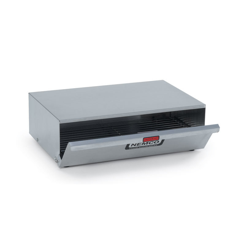 Hot dog bun warmer nemco 8024 bw fits 8010 series hot - Hot dog roller grill with bun warmer ...