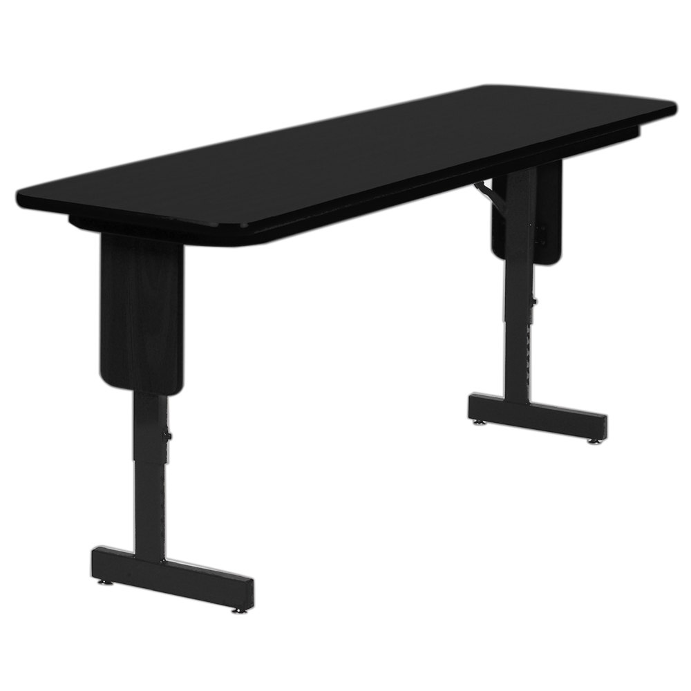 Adjustable Height Panel Leg Folding Seminar Table. Main Picture   Correll  SPA1872PX07