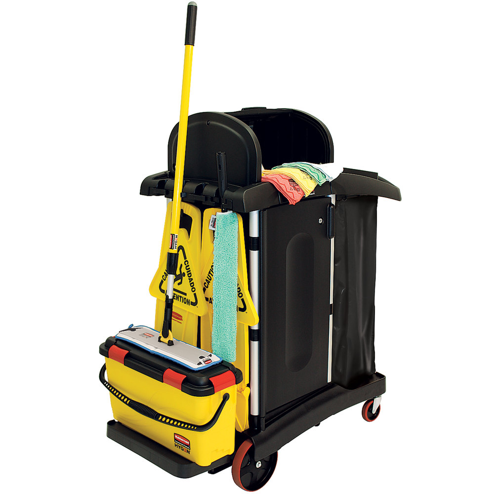 Rubbermaid 1784284 Hygen Microfiber Janitorial Kit With