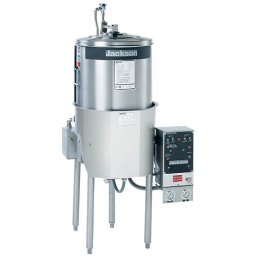 Jackson MODEL 10APRB High-Temperature Round Dish Machine with Booster Heater and 1/2 hp Pump - 208/230V