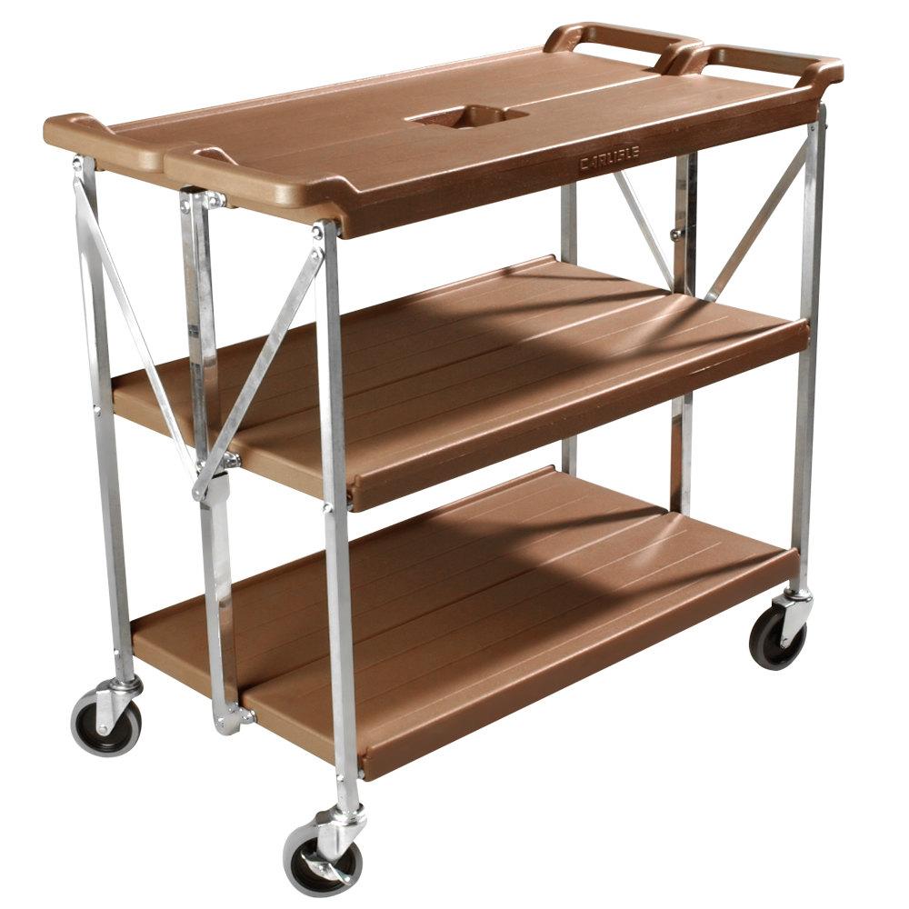 carlisle sbc203125 tan fold u0027n go folding utility cart