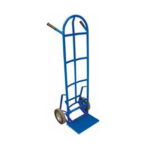 "Winholt 99MR/PO Steel Tube Push-Off Hand Truck with 8"" Mold-On Rubber Wheels - 600 lb."