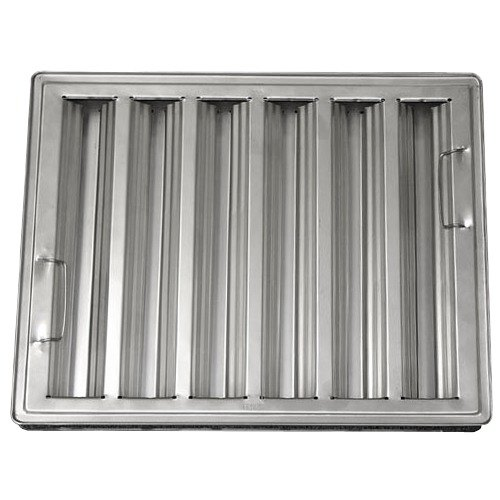 "All Points 26-1776 20"" x 25"" x 2"" Stainless Steel Hood Filter - Ridged Baffles"