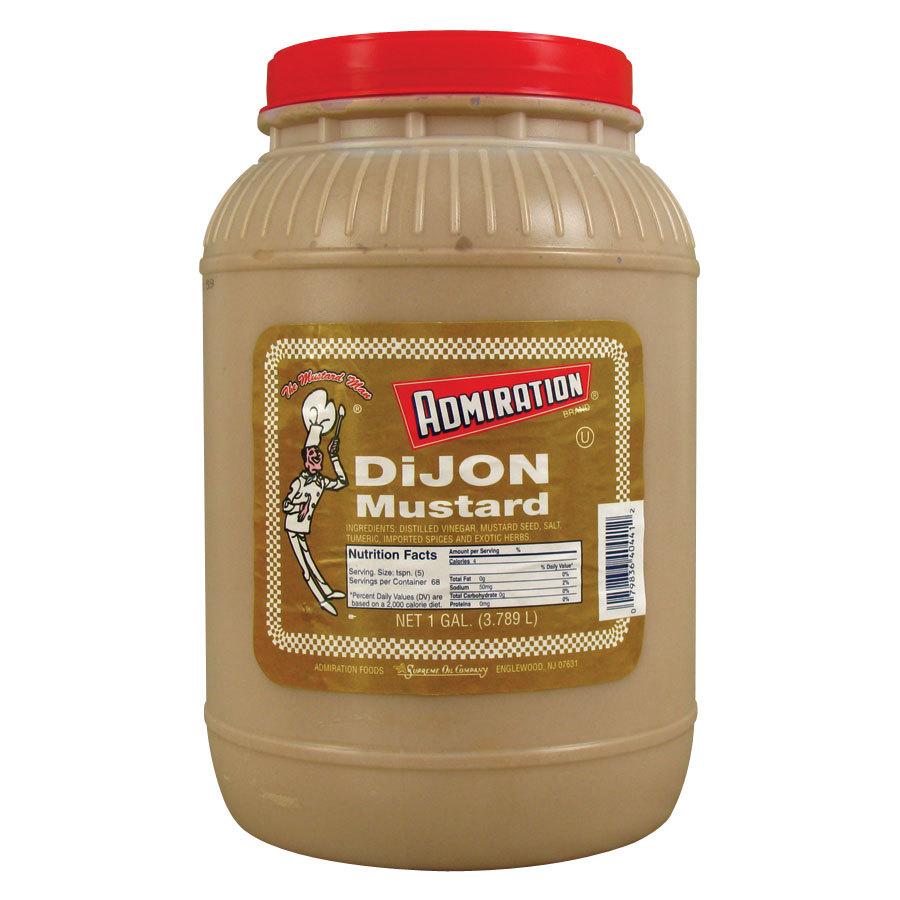 admiration dijon mustard 1 gallon containers 4 case. Black Bedroom Furniture Sets. Home Design Ideas