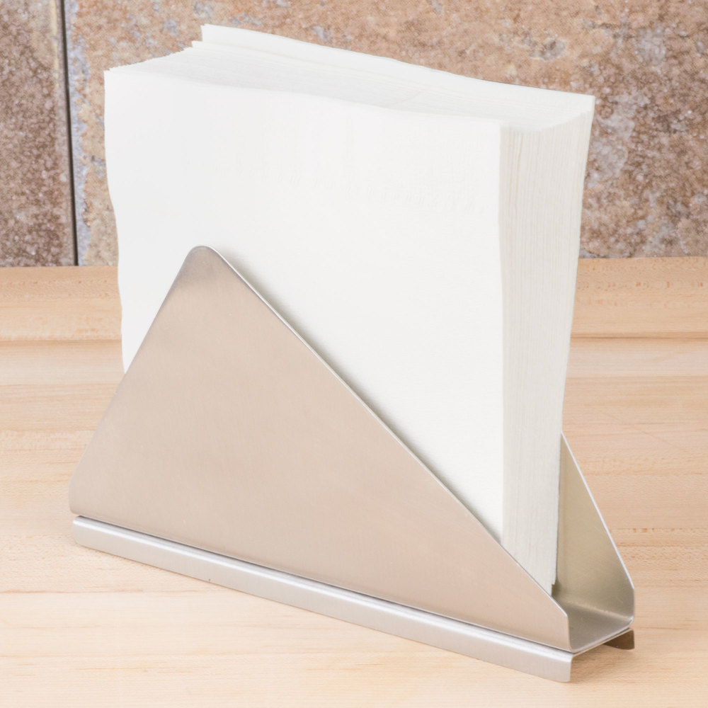 tablecraft  stainless steel angled napkin holder -