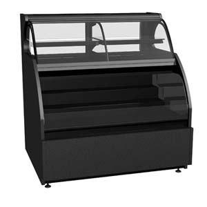 "Structural Concepts Encore HOU7452R-E3 Black 76"" Refrigerated Dual Service Merchandiser Case - 23.72 Cu. Ft., 220V"
