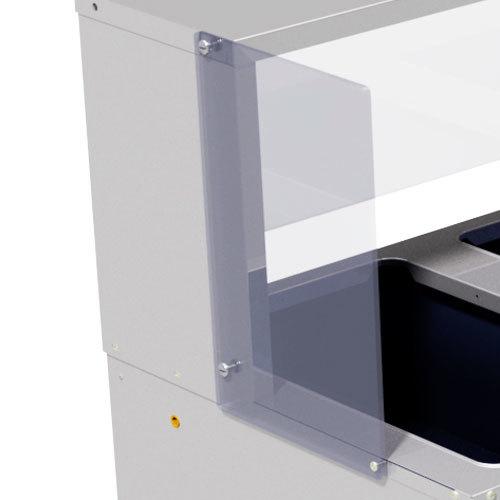 Advance Tabco TSP-2 Serving Shelf End Panel Set - Right and Left Side - 2/Set