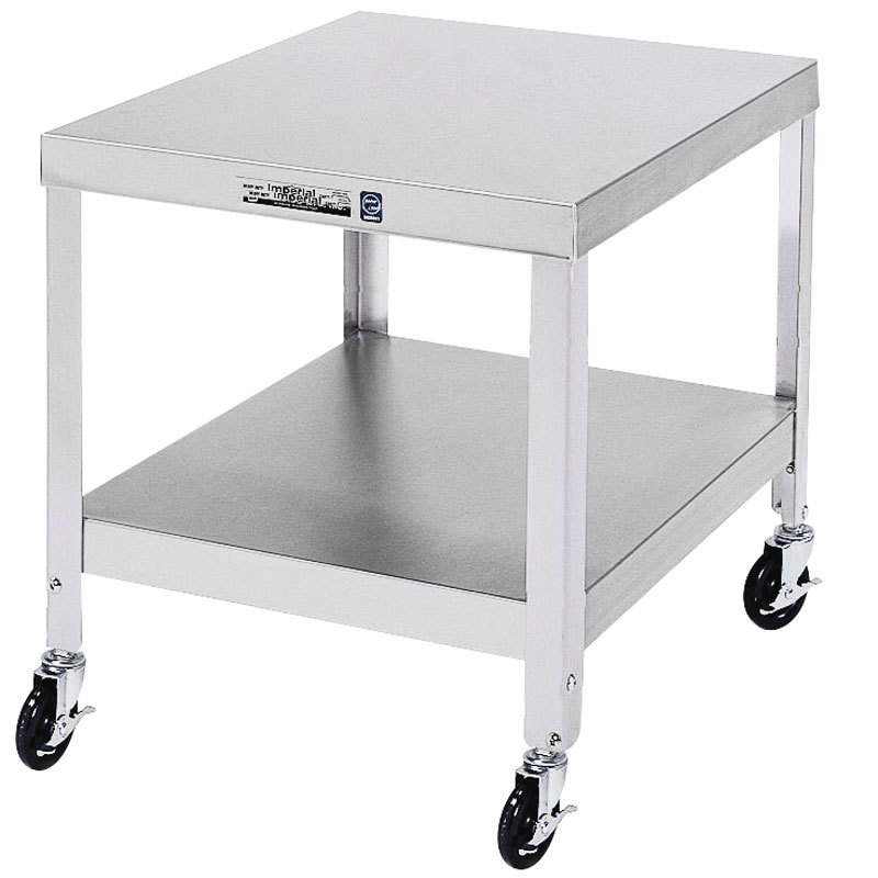 """Lakeside 515 Stainless Steel Mobile NSF Equipment Stand with Undershelf - 21 1/4"""" x 25 1/4"""" x 21 3/16"""" Main Image 1"""