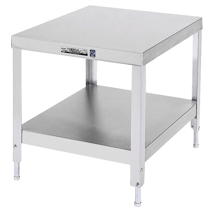 "Lakeside 535 Stainless Steel Stationary NSF Equipment Stand with Undershelf - 21 1/4"" x 25 1/4"" x 21 3/16"""