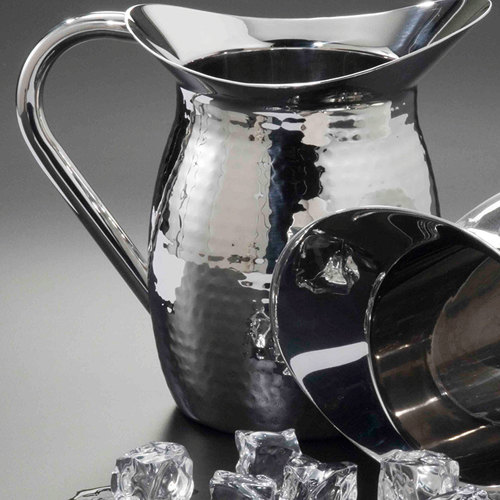 American Metalcraft HMWP64 2 Qt. Hammered Finish Double Walled Bell Pitcher