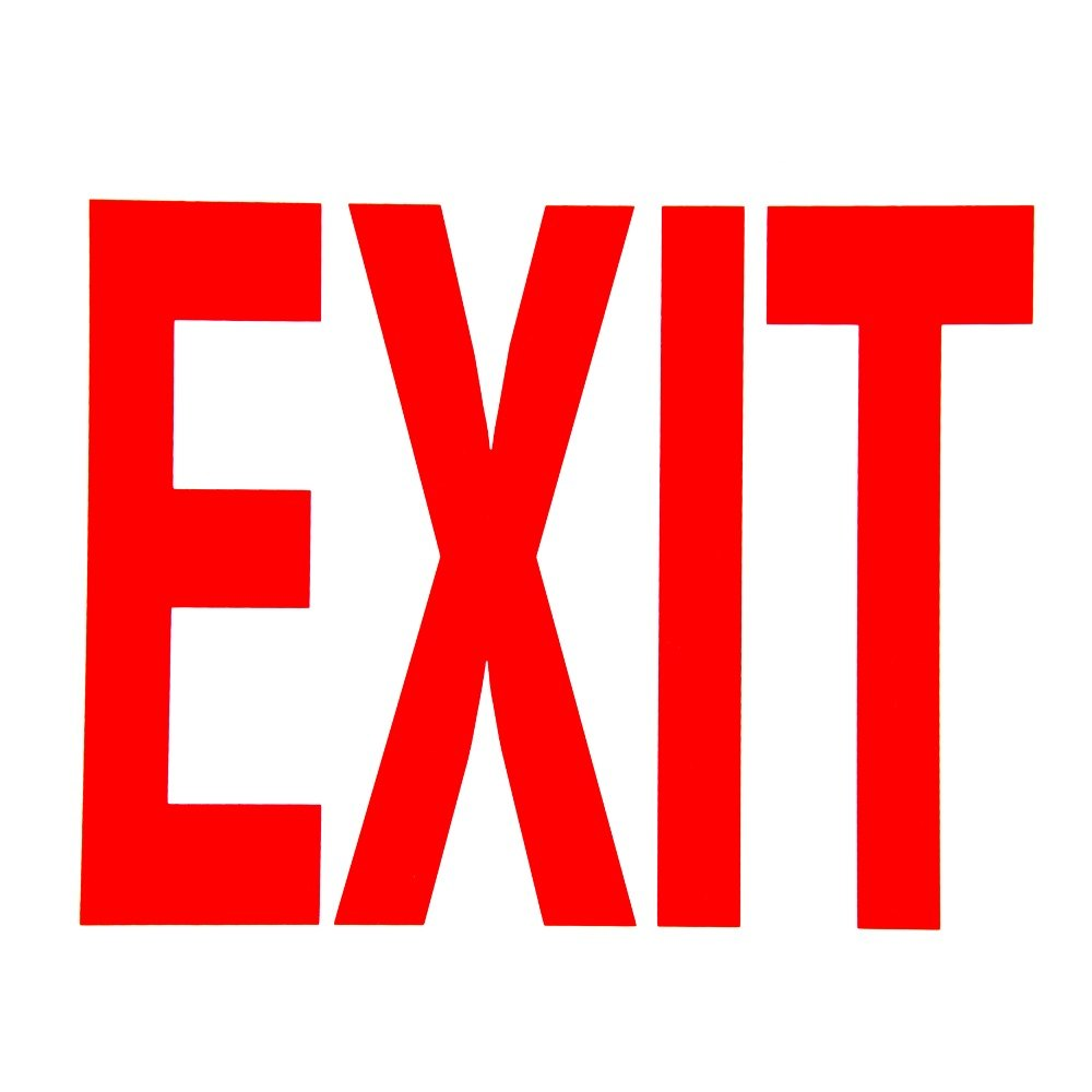 Ambitious image with printable exit sign