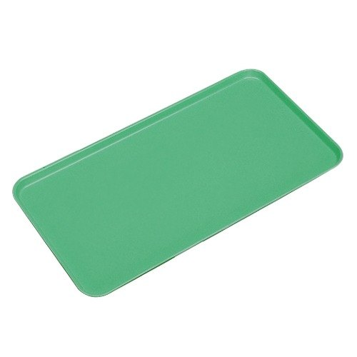 "Cambro 1318MT140 13"" x 18"" Green Fiberglass Market Tray - 12/Case"