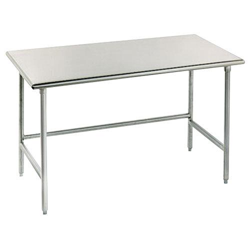 "Advance Tabco TSAG-367 36"" x 84"" 16 Gauge Open Base Stainless Steel Work Table"