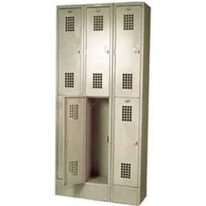 "Winholt WL-6 Triple Column Six Door Locker - 12"" x 12"" Main Image 1"