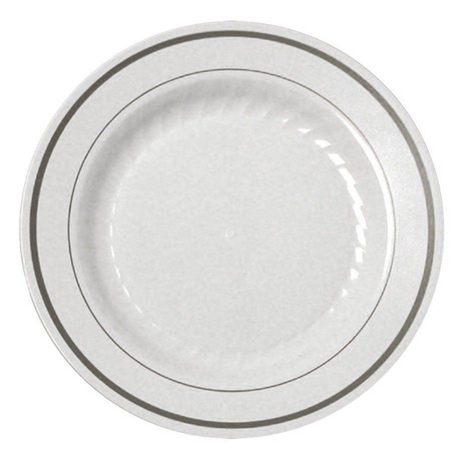 Fineline Silver Splendor 506 Wh White 6quot Plastic Plate  sc 1 st  Castrophotos & White Plastic Disposable Plates - Castrophotos