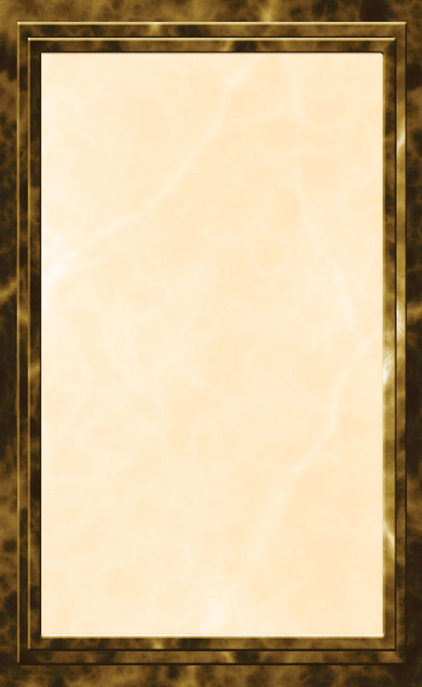 "8 1/2"" x 11"" Brown Menu Paper - Angled Marble Border - 100/Pack"