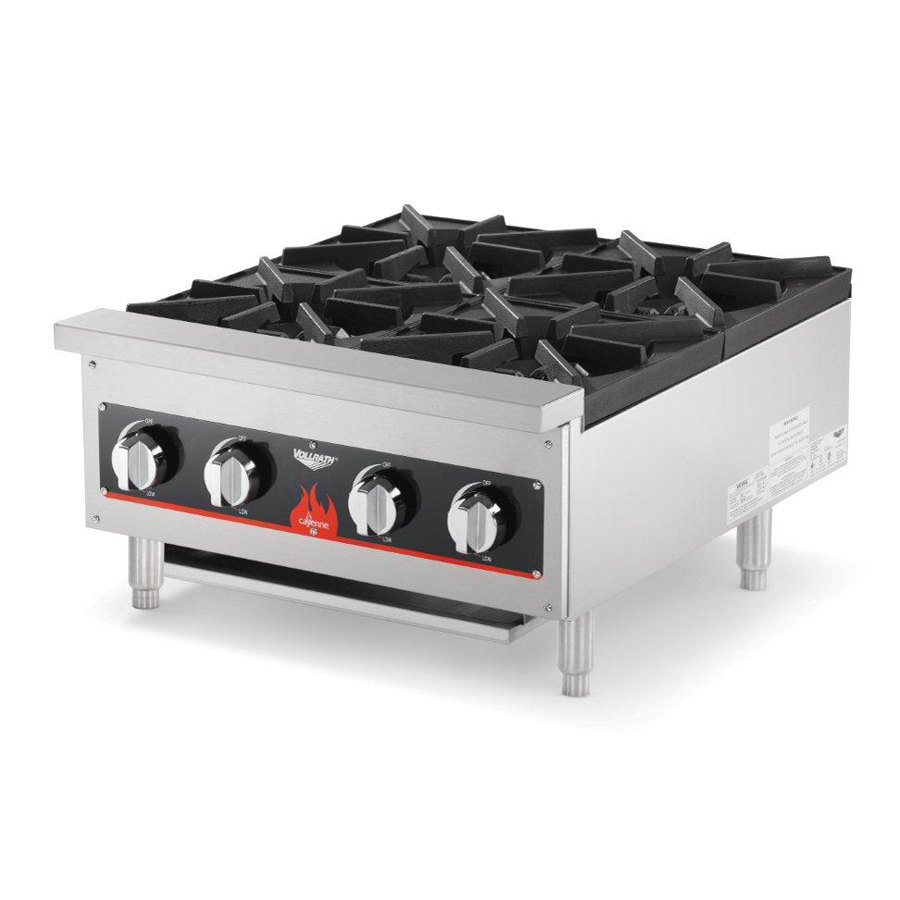 Countertop Stove Burners : vollrath-40737-4-burner-counter-top-hot-plate-range-natural-lp-gas ...