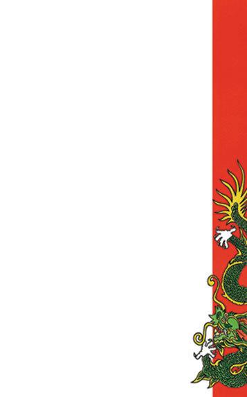 "8 1/2"" x 14"" Menu Paper - Asian Themed Dragon Design Right Insert - 100/Pack"