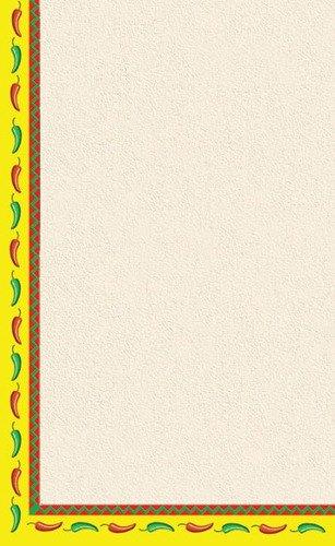 "8 1/2"" x 14"" Menu Paper - Southwest Themed Mariachi Design Left Insert - 100/Pack"