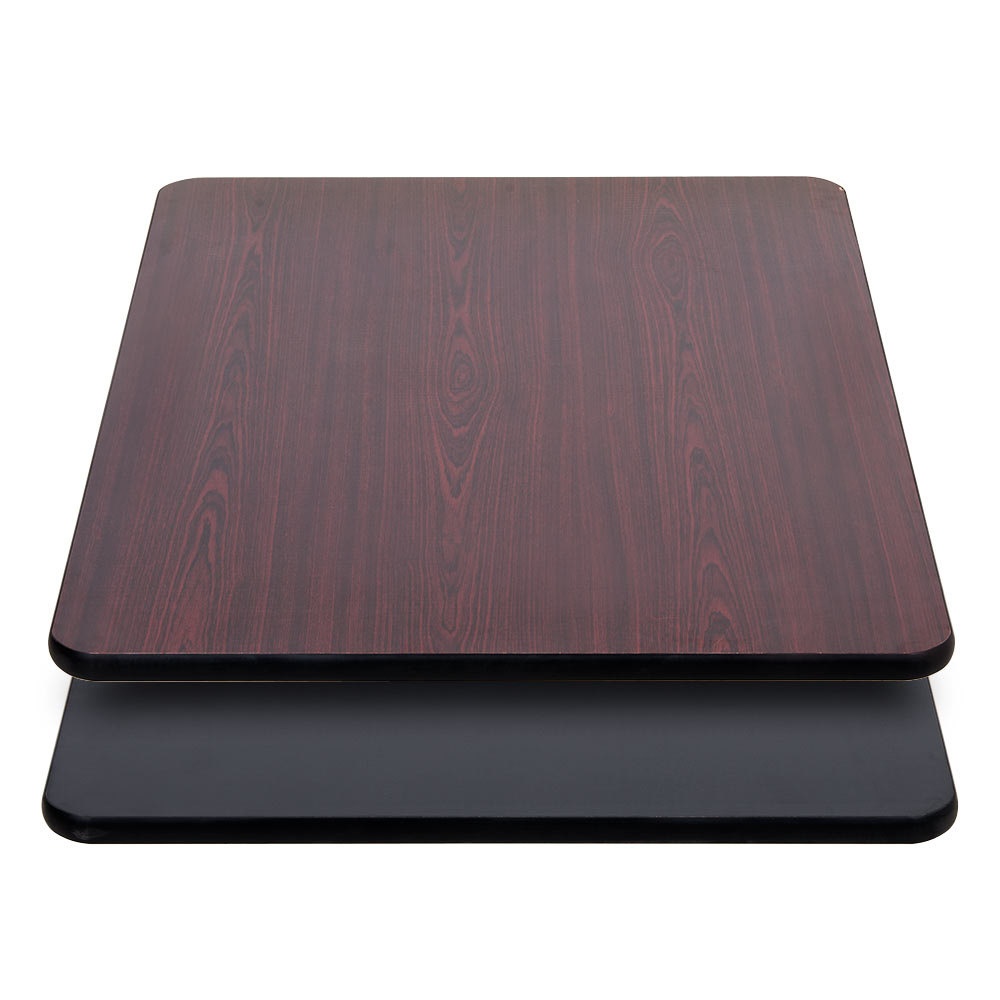 Black Table Top Inside Lancaster Table Seating 30 Inch 42 Laminated Rectangular Top Reversible Cherry Restaurant Tops