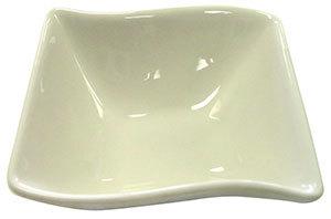CAC SOH-74 Soho 8 oz. Ivory (American White) Square Stoneware Bowl - 36/Case Main Image 1