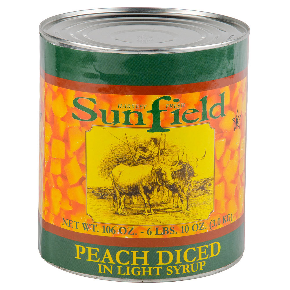 Number ten cans for sale - Diced Peaches In Light Syrup 10 Can